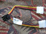 Комплект Доп питание 2хMolex на PCI-Express 6pin